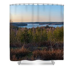 Spring At The Lake Hiidenvesi Shower Curtain