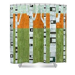 Spring Birches Shower Curtain