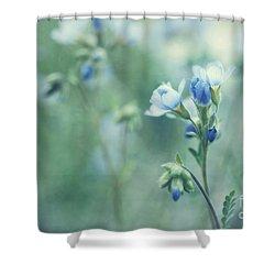 Spring Blues Shower Curtain by Priska Wettstein