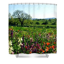 Spring Bouquet At Rusack Vineyards Shower Curtain by Kurt Van Wagner