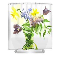 Spring Bouquet IIi Shower Curtain by Kip DeVore