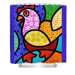 Spring Chicken Shower Curtain