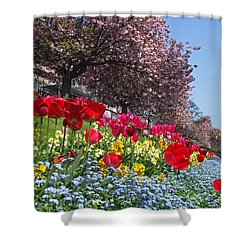 Shower Curtain featuring the photograph Spring Colours - Edinburgh by Phil Banks