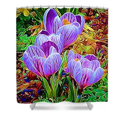 Spring Crocuses Shower Curtain