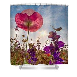 Spring   Shower Curtain by Debra and Dave Vanderlaan