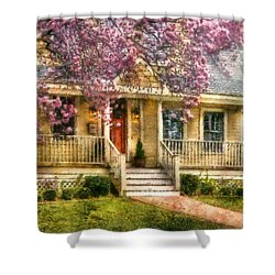 Spring - Door - Vacation House Shower Curtain by Mike Savad