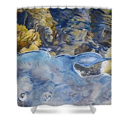 Shower Curtain featuring the photograph Spring Drawing A Line In The Ice  by Brian Boyle