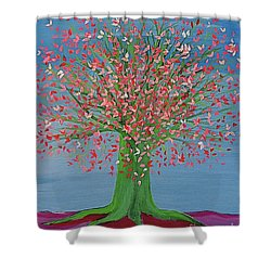 Spring Fantasy Tree By Jrr Shower Curtain by First Star Art