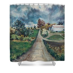 Spring Farm Shower Curtain by Joy Nichols