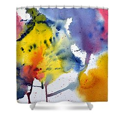 Shower Curtain featuring the painting Spring Fling by Joan Hartenstein