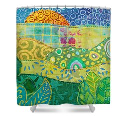 Spring Flourish Shower Curtain by Susan Rienzo