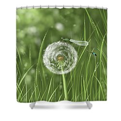 Spring Flowering Shower Curtain by Veronica Minozzi