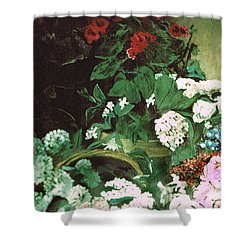 Spring Flowers Study Of Monet Shower Curtain