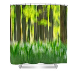 Spring Forest Impression Shower Curtain