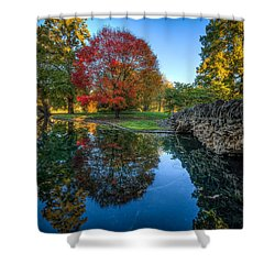 Spring Grove In The Fall Shower Curtain
