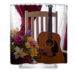 Spring Guitar Shower Curtain