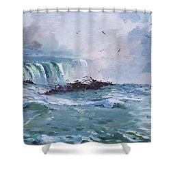 Spring In Niagara Falls Shower Curtain by Ylli Haruni