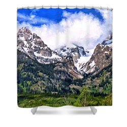 Spring In The Grand Tetons Shower Curtain by Michael Pickett