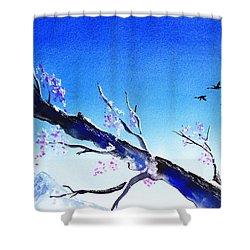 Spring In The Mountains Shower Curtain by Irina Sztukowski