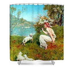 Spring Shower Curtain by John Collier