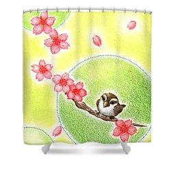 Spring Shower Curtain by Keiko Katsuta