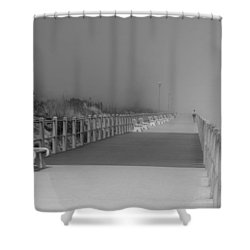 Spring Lake Boardwalk - Jersey Shore Shower Curtain