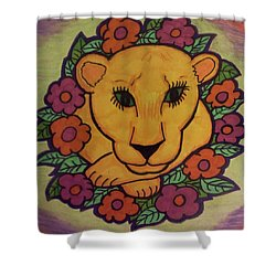 Spring Lion Shower Curtain by Christy Saunders Church