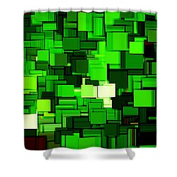 Spring Modern Abstract Xiv Shower Curtain by Lourry Legarde
