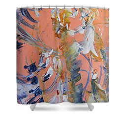 Shower Curtain featuring the painting Spring by Nancy Kane Chapman