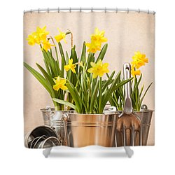Spring Planting Shower Curtain by Amanda Elwell