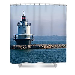 Spring Point Lighthouse Shower Curtain