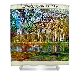Spring Pond Photoart Father's Day Shower Curtain by Debbie Portwood