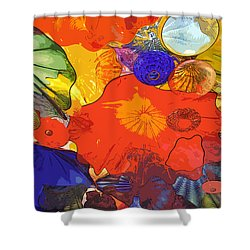 Shower Curtain featuring the digital art Spring Poppies by Kirt Tisdale