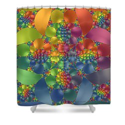 Shower Curtain featuring the digital art Spring Promises Fractal by Judi Suni Hall