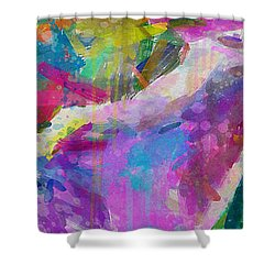 Spring Rain Shower Curtain by Greg Collins