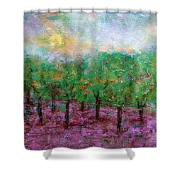 Spring Rain Shower Curtain by Jim Whalen