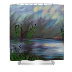 Spring Reed In The Canyon Shower Curtain by Angela A Stanton