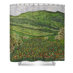 Spring Remembrances Shower Curtain by Felicia Tica