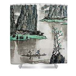 Spring River Shower Curtain