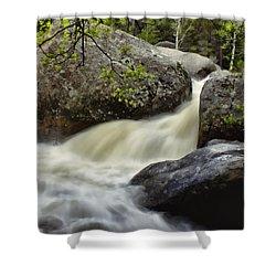 Shower Curtain featuring the photograph Spring Runoff by Ellen Heaverlo