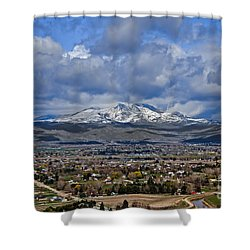 Spring Snow On Squaw Butte Shower Curtain