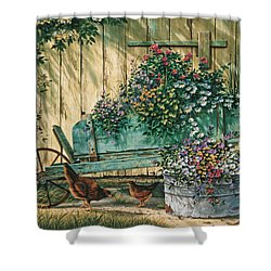 Spring Social Shower Curtain