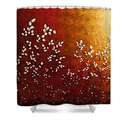 Spring Sunrise Shower Curtain by Carmen Guedez