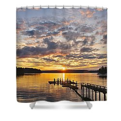 Spring Sunrise Shower Curtain by Sean Griffin