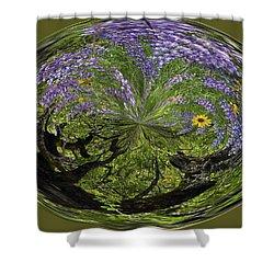 Spring Swirl Shower Curtain by Jean Noren