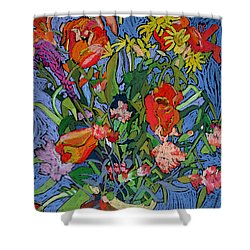 Spring Symphony Shower Curtain by Frances Treanor
