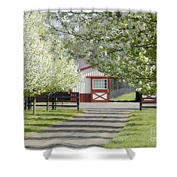 Spring Time At The Farm Shower Curtain by Sami Martin