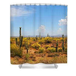 Spring Time On The Rolls - Arizona. Shower Curtain