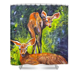 Spring Twins 1 Shower Curtain