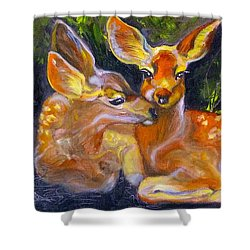 Spring Twins 2 Shower Curtain